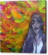 Puzzlement And Joy When Colors Enter Canvas Print