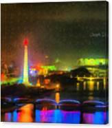 Pyongyang Night Scene Canvas Print