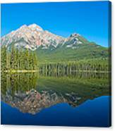 Pyramid Island In The Pyramid Lake Canvas Print