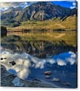 Pyramid Lake Resort Reflections Canvas Print