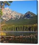 Pyramid Mountain In The Morning Canvas Print