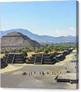 Pyramid Of The Sun And Avenue Of The Dead Canvas Print
