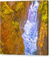 Pyrenees Spanish Bridge Waterfall Canvas Print