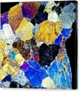 Pyroxenite Mineral, Light Micrograph Canvas Print