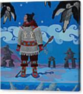 Qikiqtaaluk Whale Dreamer Canvas Print