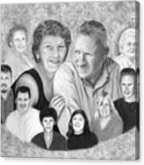Quade Family Portrait  Canvas Print