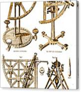 Quadrants And Sextant, 1790 Canvas Print