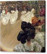 Quadrille At The Bal Tabarin Canvas Print
