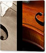 Quadriptych Of Musical Curves Canvas Print