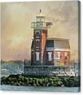 Quaint Stepping Stones Lighthouse Canvas Print