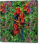 Qualia's Parrots Canvas Print