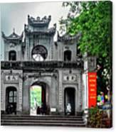 Quan Thanh Temple Gate Canvas Print