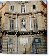 Quattro Canti In Palermo Sicily Canvas Print