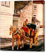 Quebec City Carriage Ride Canvas Print