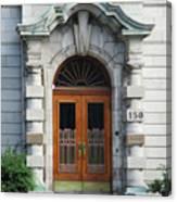 Quebec City Doors 1 Canvas Print