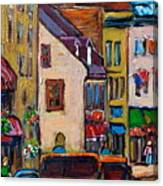 Quebec City Street Scene  Caleche Ride Canvas Print