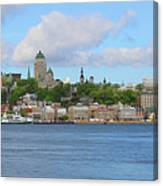 Quebec City Waterfront  6320 Canvas Print