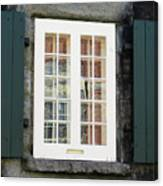 Quebec City Windows 47 Canvas Print