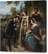 Queen Isabella And Columbus Henry Nelson Oneil Canvas Print