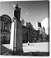 queen victoria statue and Birmingham council house victoria square UK Canvas Print