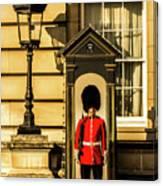 Queens Guards. Canvas Print