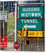 Queens Midtown Tunnel Canvas Print