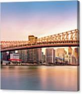Queensboro Bridge At Sunset Canvas Print