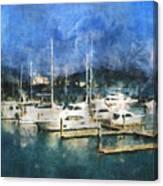 Queensland Marina Canvas Print