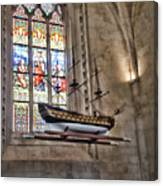 Quelven Church, Brittany, France, Ship Canvas Print