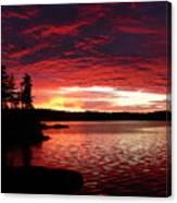 Quetico Sun Rise Canvas Print