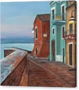 Quiet Sicilian Town Canvas Print