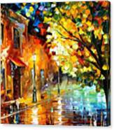 Quiet Corner-garden On The Stones - Palette Knife Oil Painting On Canvas By Leonid Afremov Canvas Print