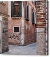 Quiet Corner In Venice Canvas Print