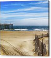 Quiet Day On The Beach Canvas Print