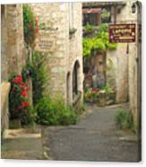 Quiet Lane In St Cirq I France Canvas Print