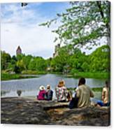 Quiet Moment In Central Park Canvas Print