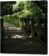 Quiet Path Bridge Canvas Print