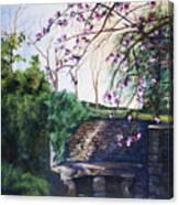 Quiet Repast In The Cotswalds Canvas Print