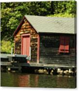 Quiet Sunapee Fishing Cabin Canvas Print