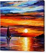 Quiet Sunset Canvas Print