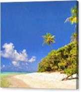 Quiet Tahiti Beach Canvas Print