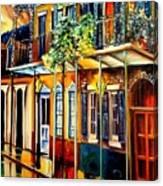 Quiet Vieux Carre Canvas Print
