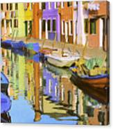 Quiet Waterway Reflections Canvas Print