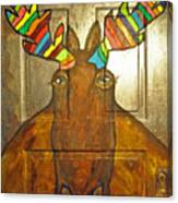 Quigley The Rustic Colorful Moose Canvas Print