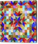 Quilt Pattern No. 1 Canvas Print