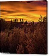 Quilted Orange Skies Canvas Print