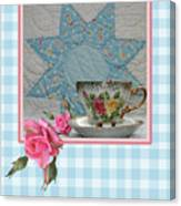 Quilted Star Card Canvas Print