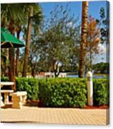 Quite Corner In Weston Florida Canvas Print