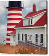 Quoddy Lighthouse Afternoon Canvas Print