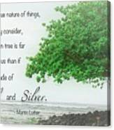 Quote From Martin Luther Canvas Print